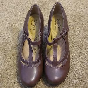 Strictly Comfort Brown Heels